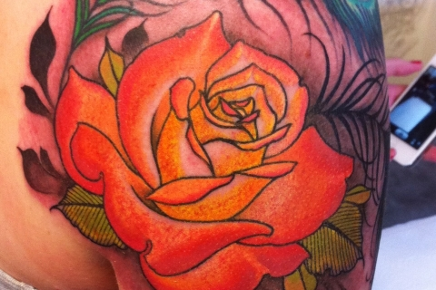 Calgary Flower Tattoo Piece